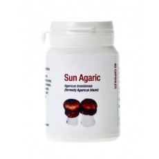 Myconutri Sun Agaric - Brazīlijas atmatenes sēnes (Agaricus brasiliensis) biomasa un ekstrakts, 60 kaps.